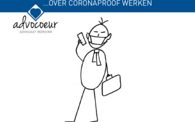 Over corona-proof werken…